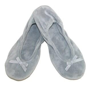 Dearfoams Women's Velour Ballerina Slippers