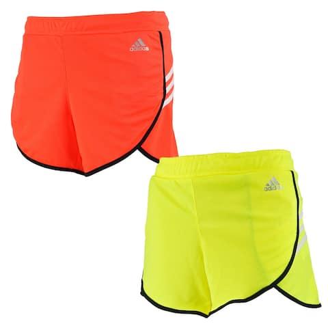 adidas Women's Ultimate Woven 3 Stripe Shorts 2-Pack - Orange/Yellow