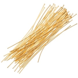 22K Gold Plated Head Pins - 24 Gauge/1 Inch (50)