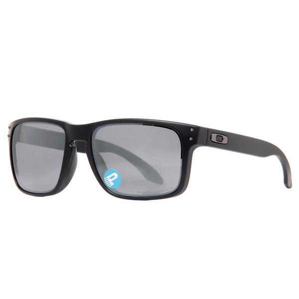 Oakley Holbrook OO9102 62 Matte Black Iridium Polarized Menu0026#x27;s Square  Sunglasses