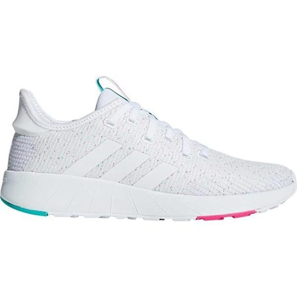 large discount amazon autumn shoes Shop adidas Women's Questar X Byd Sneaker White/White/Shock Pink ...