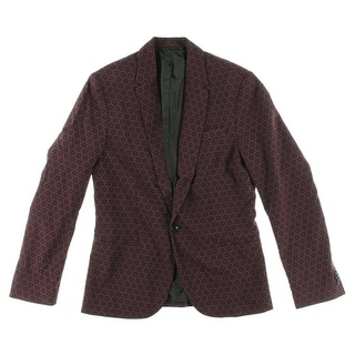 Zara Mens Printed Double Vent Casual Blazer - S