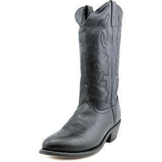 Laredo Deertan Men Pointed Toe Leather Black Western Boot