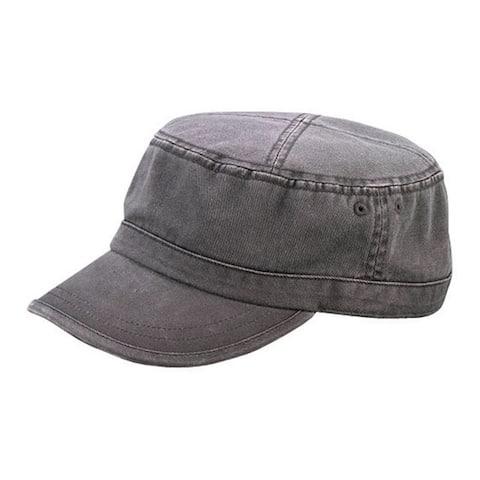 Enzyme Regular Solid Army Caps-Grey