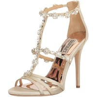 BADGLEY MISCHKA Womens MP3643 Leather Open Toe Bridal T-Strap Sandals