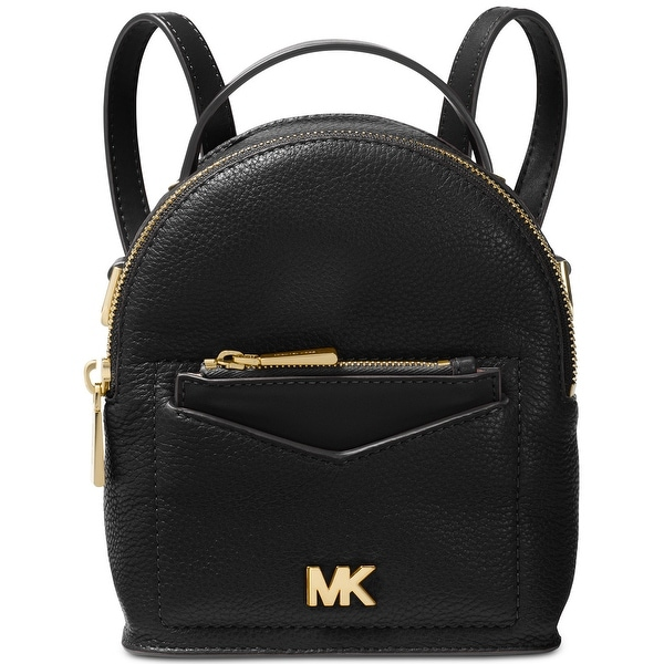 10503f6f4bba MICHAEL Michael Kors Jessa Mini Leather Convertible Backpack Black - One  Size