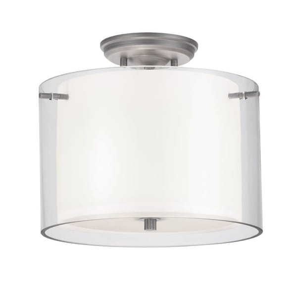 Dvi Lighting Dvp9013 Es 2 Light Semi Flush Ceiling Fixture