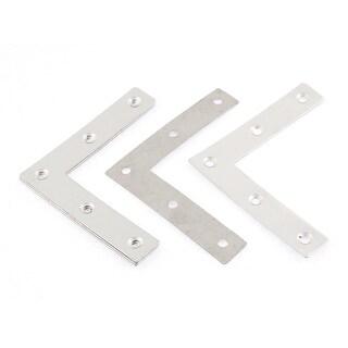 5 Pcs 80mm x 80mm Stainless Steel Flat Corner Brace Fixing Repair Bracket Plates