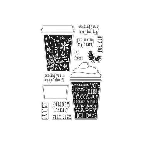 Hero Arts Clear Stamps Tags Coffee Cups