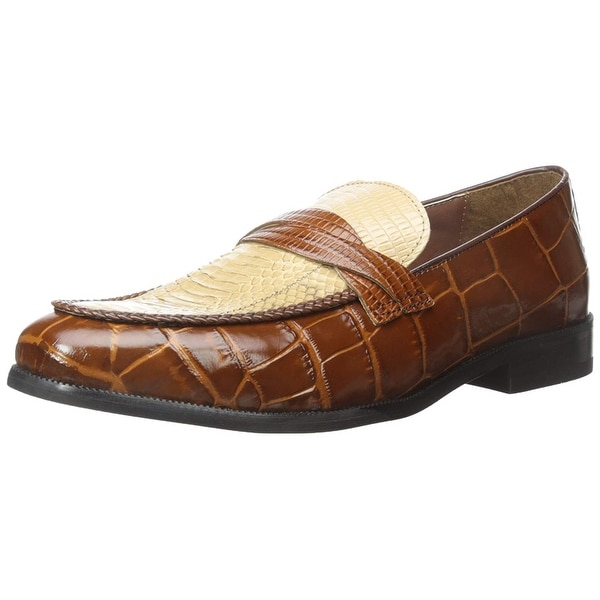 Stacy Adams Mens Corsica Leather Slip On Dress Oxfords