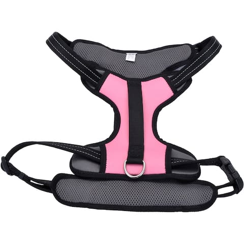 Coastal Reflective Control Handle Harness-Pink Extra Large - Pink