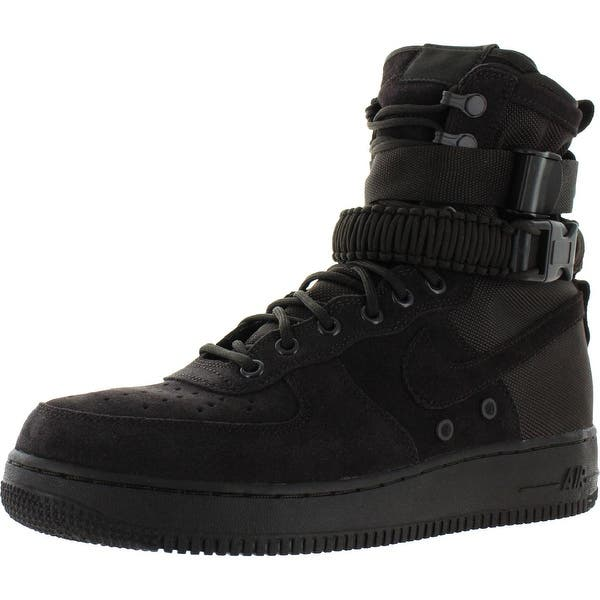 Shop Nike Mens Air Force 1 Fashion Sneakers High Top Perforated
