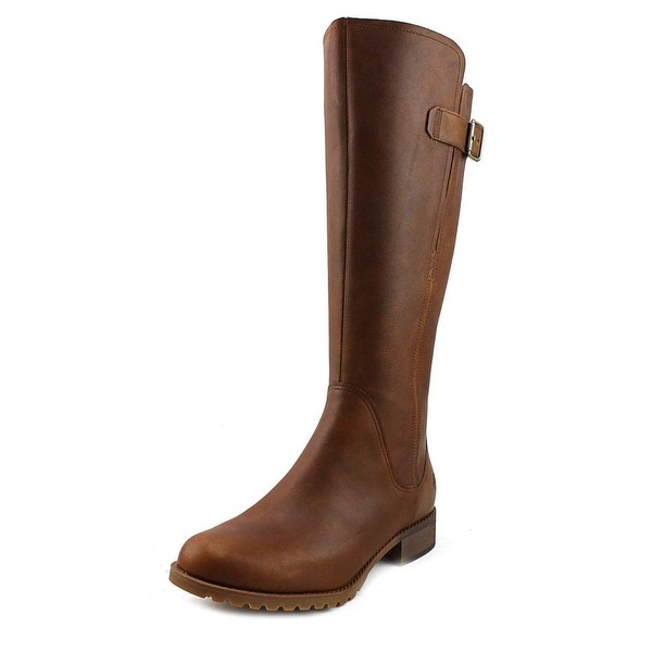 Timberland Banfield Wide Calf Women Round Toe Leather Brown Knee High Boot
