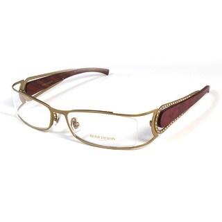 Boucheron Unisex Rectangular Rounded Eyeglasses Purple/Gold - S