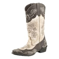 Roper Western Boots Womens Willa Floral Brown