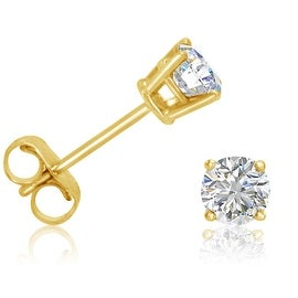 Amanda Rose 1/2ct TW Diamond Stud Earrings in 14K Yellow Gold