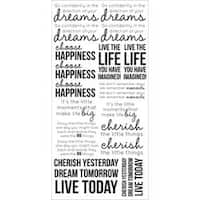 """Life - Clear Stickers 5.75""""X12"""""""