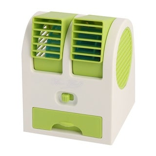 Portable Home Office Bladeless Cooling USB Battery Powered Personal Mini Fan Green