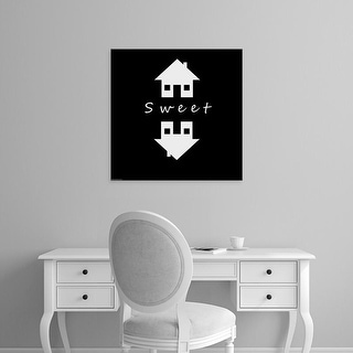 Easy Art Prints GraphINC's 'Home Sweet Home' Premium Canvas Art
