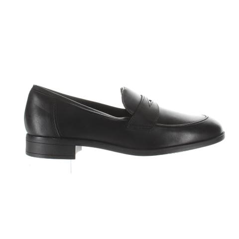 Clarks Womens Trish Rose Black Leather Loafers Size 8