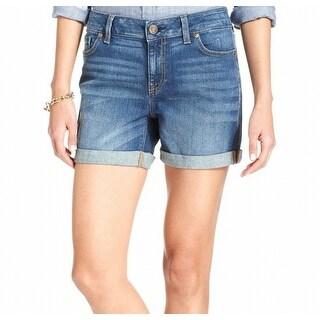 Tommy Hilfiger NEW Stonewashed Blue Women's Size 16 Cuffed Denim Shorts