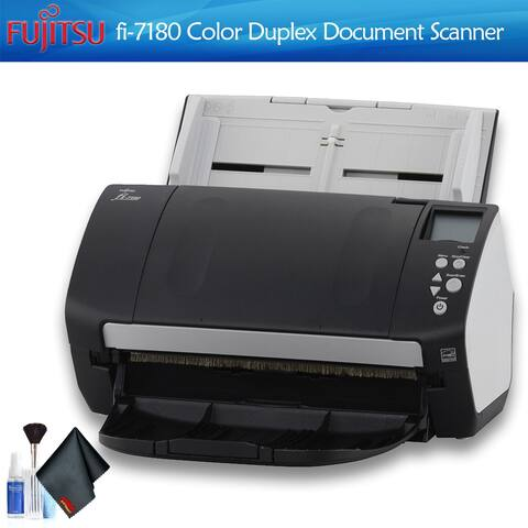 Fujitsu fi-7180 Color Document Scanner With Cleaning Set Bundle