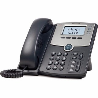 Cisco SPA504G 4-Line IP Phone with 2-Port Switch PoE and LCD Display - Black
