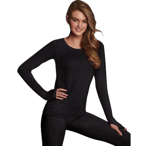 Maidenform Baselayer Thermal Crew - Color - Black - Size - L