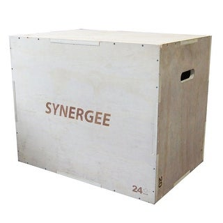 Synergee 3 in 1 Wood Plyometric Box for Jump Training and Conditioning. Wooden Plyo Box All In One Jump Trainer