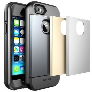 iPhone 5S Case, SUPCASE Water Resist Full-Body Rugged Case with Built-in Screen Protector-Gray/Silver/Gold