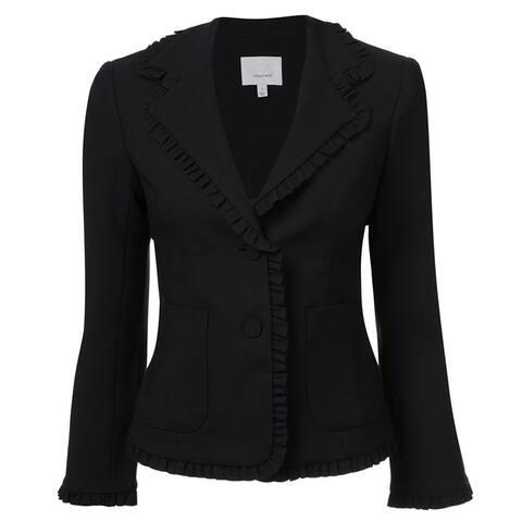 Clinq A Sept Black Ruffled Blazer Size 8