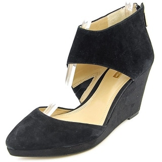 BCBGeneration Millbrook Open Toe Suede Wedge Heel