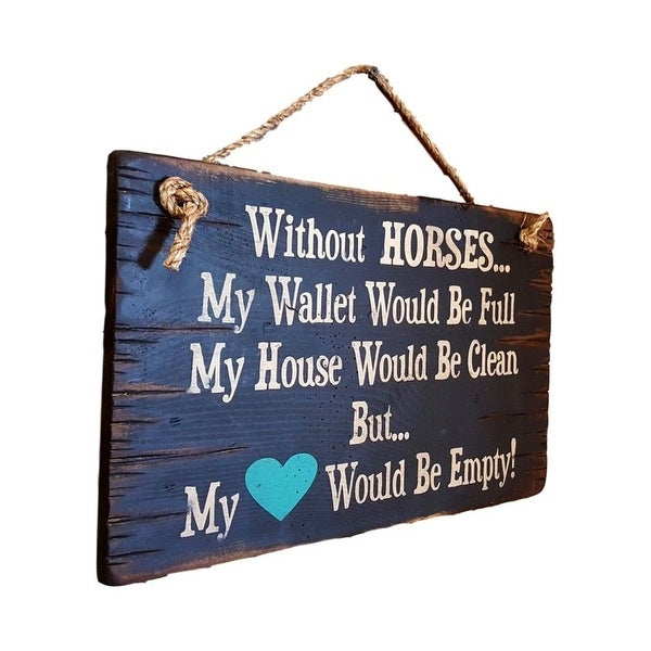 Cowboy Signs Wood Wall Hanging Without Horses Wallet Wood Black 8281