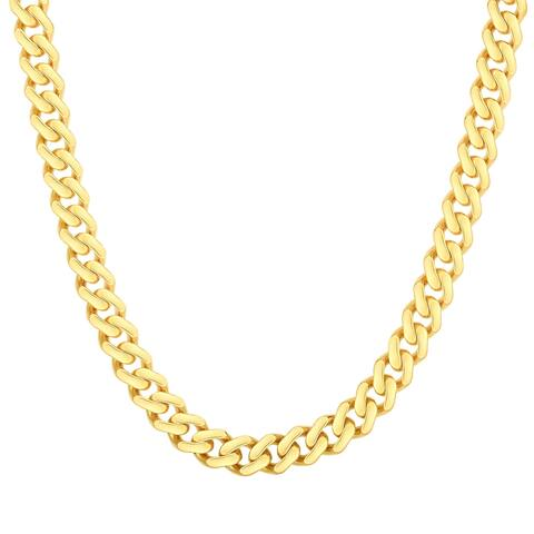 Mcs Jewelry Inc 14 KARAT YELLOW GOLD LIGHTWEIGHT MIAMI CUBAN LINK CHAIN BRACELET 6.5MM