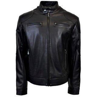 Link to Men's Leather Racing Jacket Similar Items in Men's Outerwear