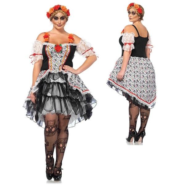 b376ae4c93 Shop Womens Sexy Sugar Skull Senorita Plus Size Costume - Free Shipping  Today - Overstock - 17240296