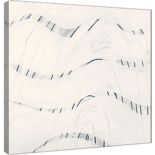 "PTM Images 9-100909  PTM Canvas Collection 12"" x 12"" - ""Indigo C"" Giclee Abstract Art Print on Canvas"