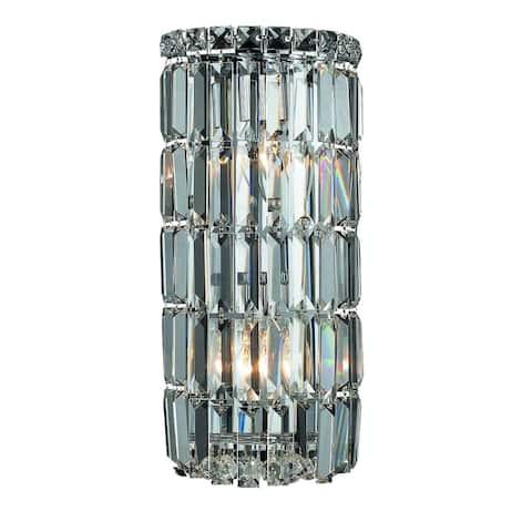 Somette Lausanne 2-light Royal Cut Crystal
