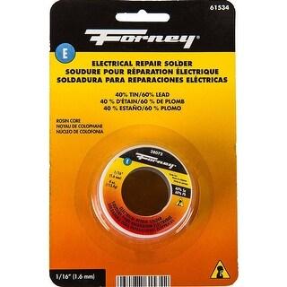 """Forney 61534 Electrical Repair Rosin Core Solder, 4 Oz, 1/16"""""""