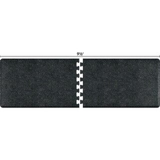 WellnessMats Anti-Fatigue Office & Kitchen Mat, PuzzlePiece Collection R Series, 9.5 Feet by 3 Feet, Granite Onyx - granite onyx