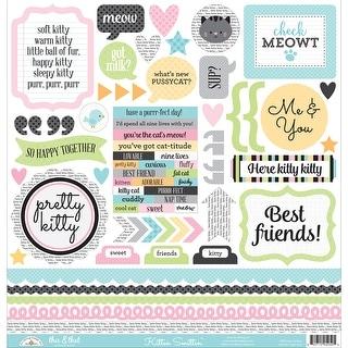 "Kitten Smitten Cardstock Stickers 12""X12""-This & That"