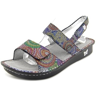 Alegria Verona Women Open-Toe Leather Multi Color Slingback Sandal