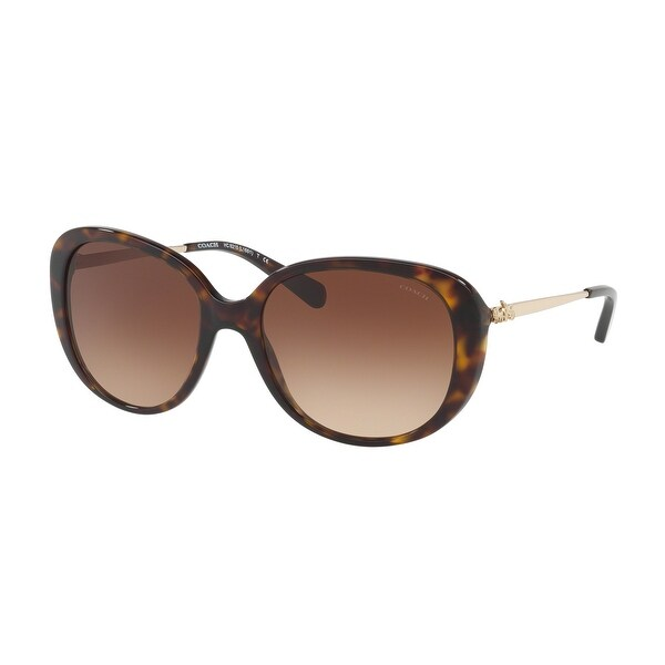 Coach Women's HC8215F 548513 57 Brown Gradient Metal Oval Sunglasses. Opens flyout.