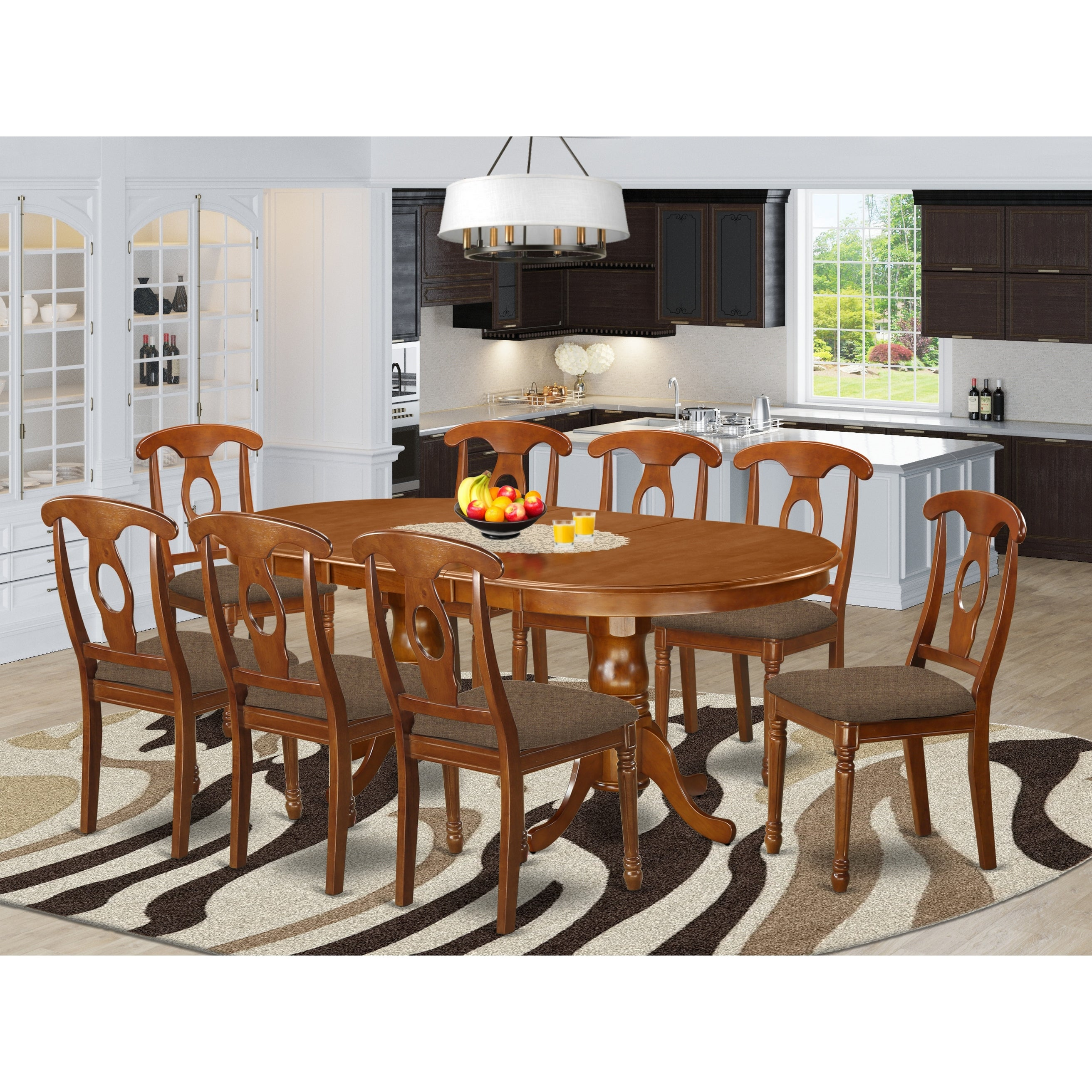 Picture of: Plna9 Sbr 9 Pc Formal Dining Room Set Dining Table With 8 Chairs Overstock 17676509