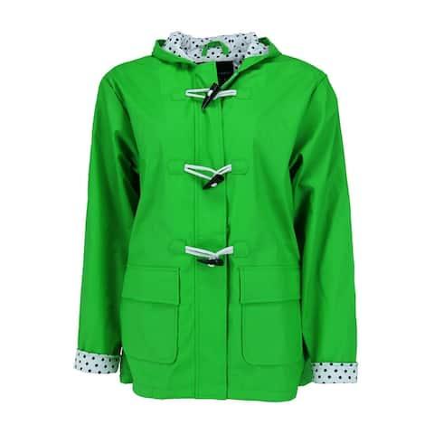 I5 Apparel Kid's Hooded Waxie Toggle Rain Slicker Jacket