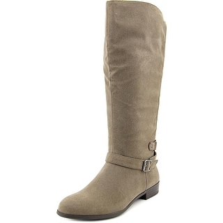 Style & Co Faee Wide Calf Women W Round Toe Synthetic Gray Mid Calf Boot