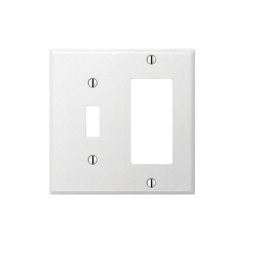 Shop Amerelle C981trw 1 Toggle 1 Rocker Gfci Wall Plate Pro White