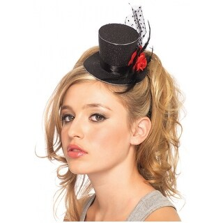 Mini Top Hat with Rose Adult Costume Accessory