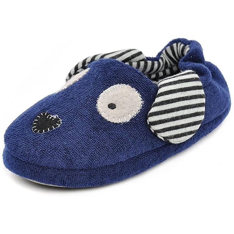 Beeliss Toddler Boys Slippers Cartoon Puppy Crochet Shoes - 6 - Overstock -  31607527