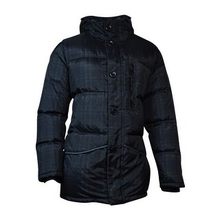Nautica Men's Hooded Down Jacket (XL, Charcoal Heather) - XL